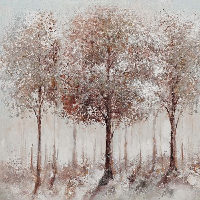 Landschappen Schilderijen: Bruin Rode Bomen Schilderij