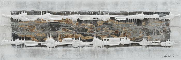 Abstracte Schilderijen: Abstract Structuur Balk Schilderij