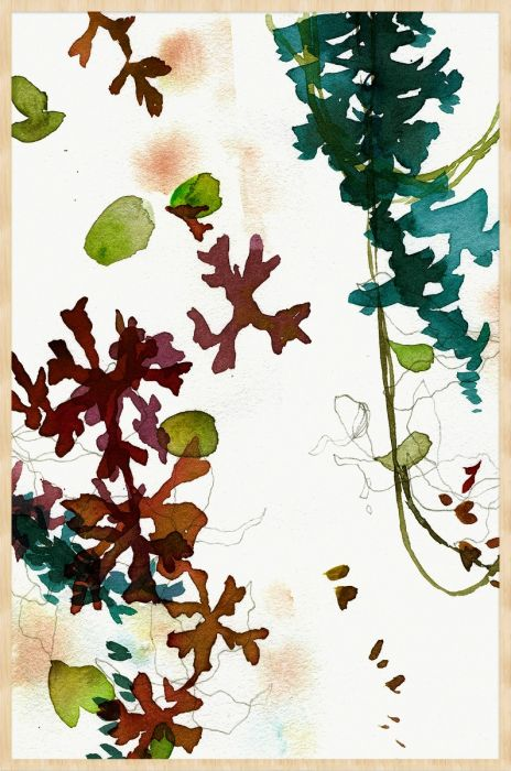 Abstracte Schilderijen: Arts & Crafts 001 Botanisch Wandkraft Collectie
