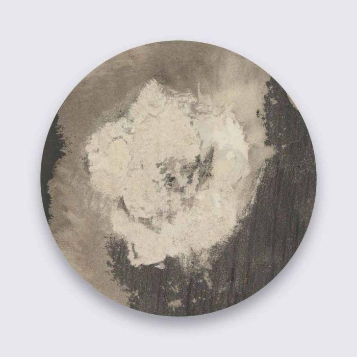 Abstracte Schilderijen: Abstracte Art Vergrijsde Kleuren Pure Metal Collectie Wandkraft Schilderijen