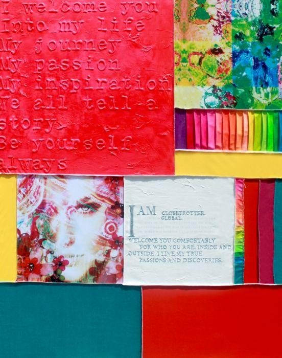 Figuratieve Schilderijen: Sabine Kleiren Collectie kleurrijke tekst 100% Handschilderd - Schilderijbestellen