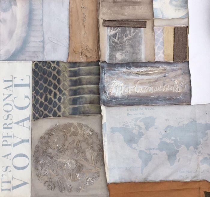 Moderne Schilderijen: Groot Schilderij Lagen Sabine Kleiren 150x150