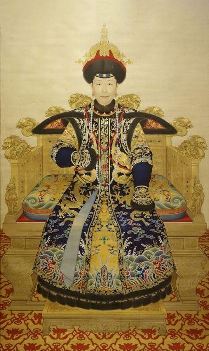 Figuratieve Schilderijen: RVS schilderij Heshen - ART FACSIMILE 044 - Niohuru Clan Wandkraft Collectie