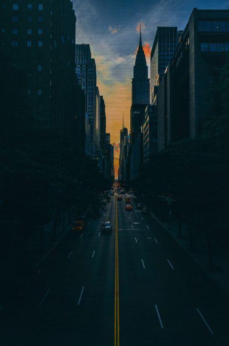Foto Kunst Schilderijen: RVS schilderij stedelijke straat - CITY LIFE 006 - Wandkraft Collectie