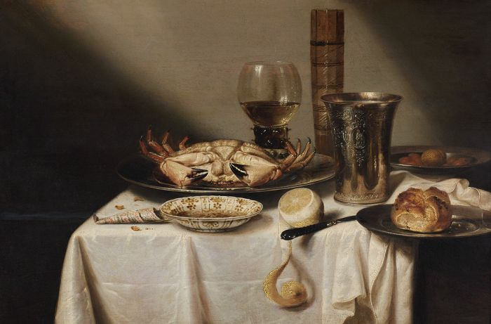 Dieren Schilderijen: Replica Ontbijt Met Krab Willem Claesz Dutch Masters Collectie Wandkraft