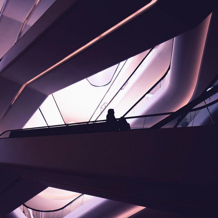 Foto Kunst Schilderijen: Wandkraft glas schilderij etages