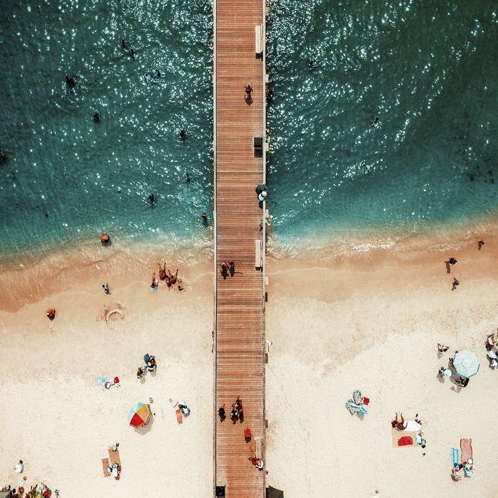 Foto Kunst Schilderijen: Loopsteiger oceaan - Summer Time