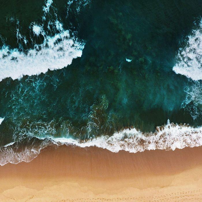 Foto Kunst Schilderijen: Wandkraft Art Of Nature Collectie Strand Zee Emerald Groen