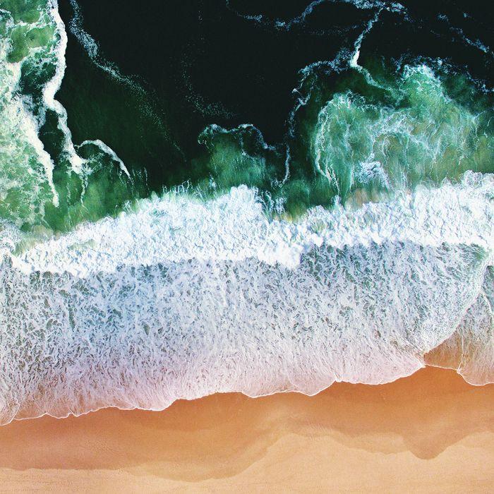 Foto Kunst Schilderijen: Zee Oceaan Emerald Groen Art Of Nature Collectie Wandkraft Schilderijen