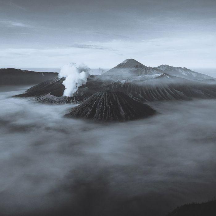 Foto Kunst Schilderijen: Kraters Vulkaan Gebergte Art Of Nature Wandkraft Schilderijen