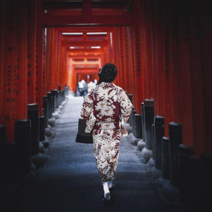 Figuratieve Schilderijen: Land Of The Rising Sun Collectie Wandkraft Rvs Schilderijen Kyoto Japan