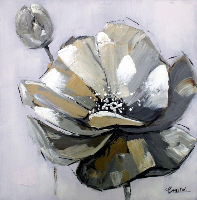 Bloemen Schilderijen: Metalen Bloem Schilderij