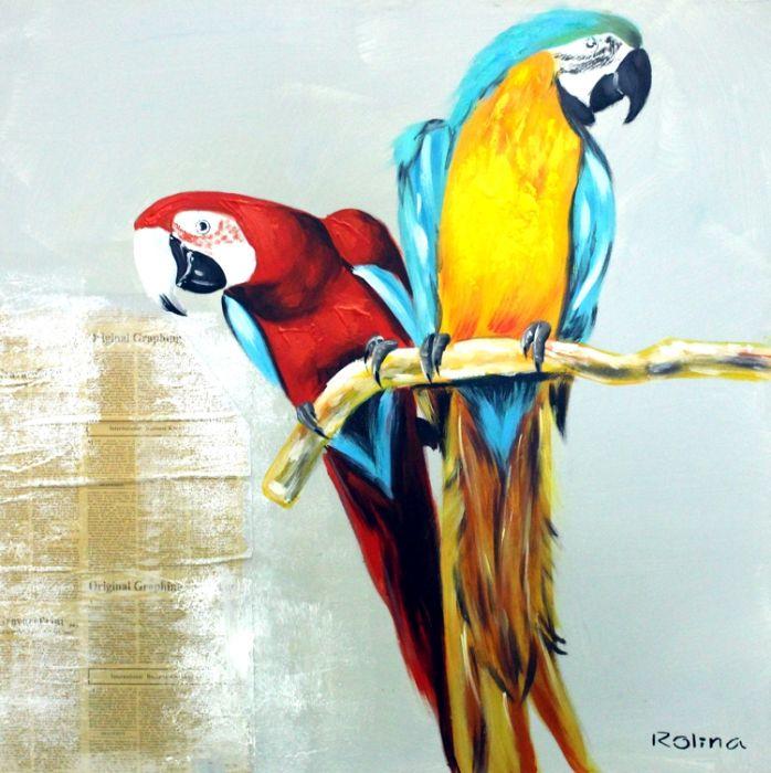 Dieren Schilderijen: Papegaaien Schilderij