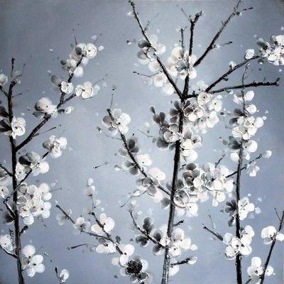 Bloemen Schilderijen: Hibiscus Struik Schilderij