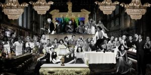 Hollywood Muzikanten Golden Age Glas Schilderijen 160x80