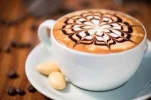 Capuccino Kopje Koffie Barista Glas Schilderij 80x60