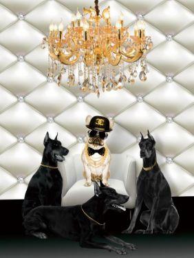 Merk Boeken Tas Roze Chanel Prada Valentino Glas Schilderij 60x80