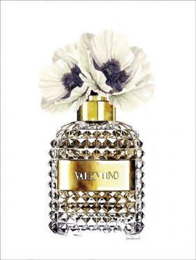 Parfumfles Valentino Bloemen Koper Glas Schilderij 60x80