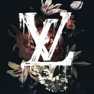 Bloemen Louis Vuitton Initialen Glas Schilderij
