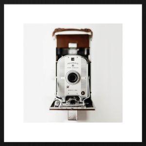 Forex schilderij polaroid camera met zwarte