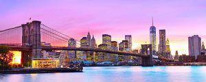 Brooklyn Biridge uitzicht bij avond zon