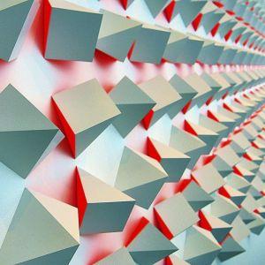 Dibond schilderij origami