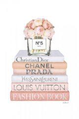 Merk Fashion Books Parfum Yves Saint Laurent Glas Schilderij 60x80