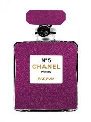 Chanel N5 Paris Parfum Goudfolie Glas Schilderij 60x80