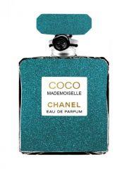 Chanel Eau De Parfum Goudfolie Glas Schilderij 60x80