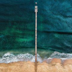 Art Of Nature Wandkraft Collectie Dibond Schilderij Strand Steiger Zee