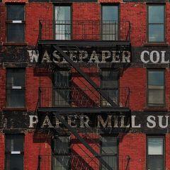 Paper Mill Supplies Appartementen Complex Gebouw Rood Zwart Industriële Trap