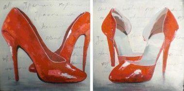 Schilderij schoenen